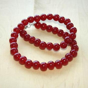 Elegant Ruby Beads versatile necklace